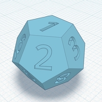 Small Dice 12 sides 3D Printing 177659