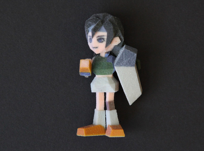 Yuffie  Low Poly 3D Print 177692
