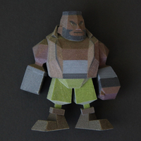 Small Barret Low Poly 3D Printing 177694