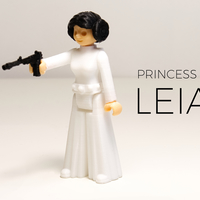 Small Princess leia 3D Printing 177806