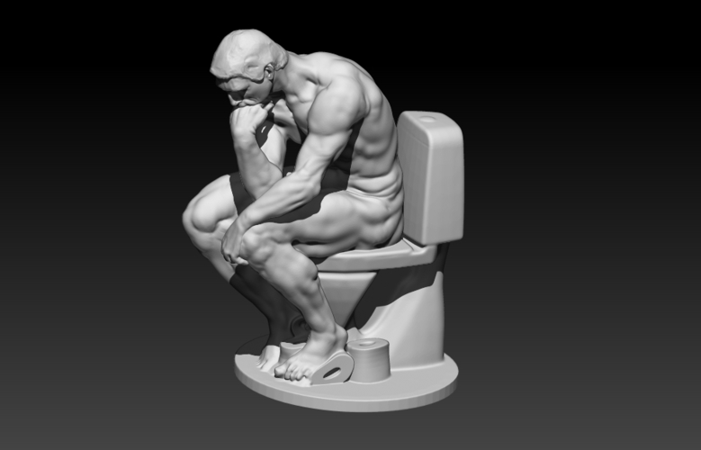 The New Thinker 3D Print 178173
