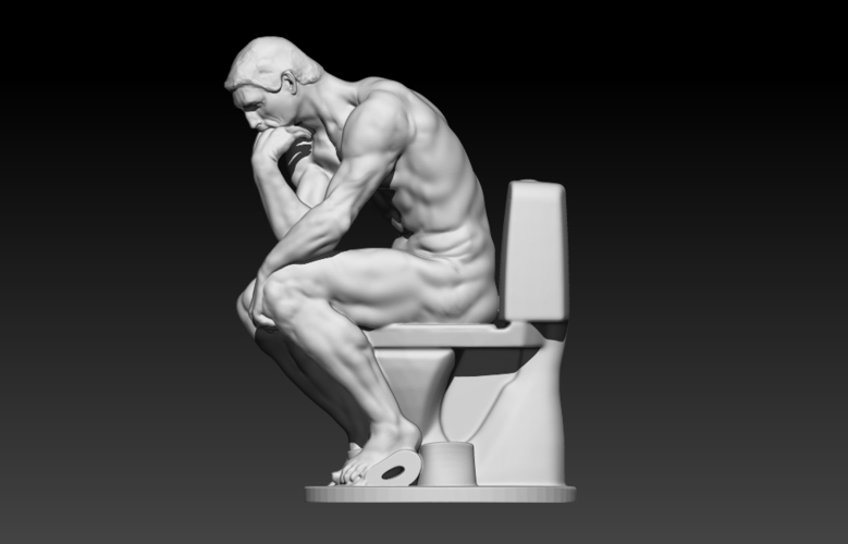 The New Thinker 3D Print 178176