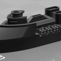 Small Heinrich Class Heavy Frigate 3D Printing 178181
