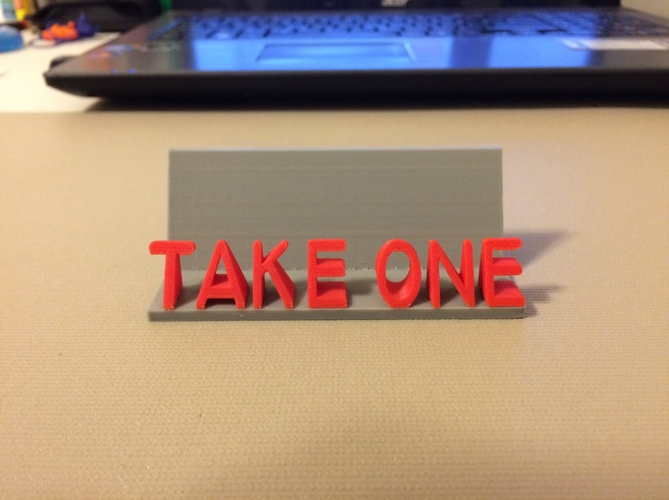 """Take One"" - Business Card Holder 3D Print 178367"