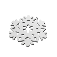 Small Christmas Snowflake Ornament_2 3D Printing 178379