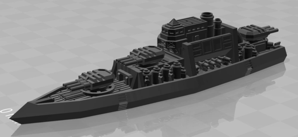 Medium Lodbrok Class Battleship 3D Printing 178381