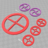 Small Blast Templates (for v2) 3D Printing 178390