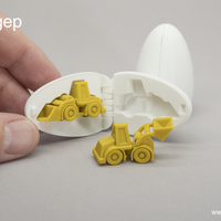 Small Surprise Egg #3 - Tiny Wheel Loader Toy 3D Printing 178403