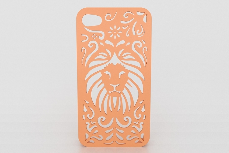 Tribal Lion Iphone Case 4/4s 3D Print 178404