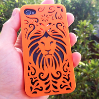 Small Tribal Lion Iphone Case 4/4s 3D Printing 178405