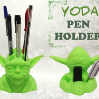 Small Yoda Pen Holder 3D Printing 178456