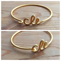 Small Wire Cleveland (CLE) Bracelet 3D Printing 17848
