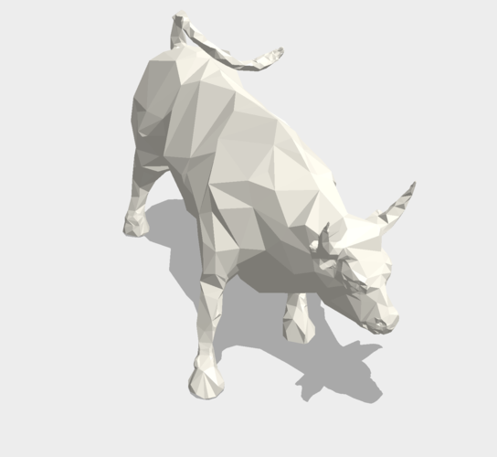 Low Poly: Wall Street Charging Bull 3D Print 178488