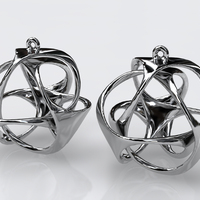 Small Triloop Earrings 3D Printing 17851