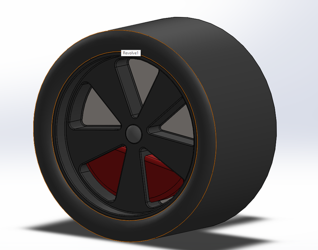 Fuchs Wheels for Low-Poly Porsche 911 Turbo 3D Print 178530