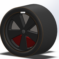 Small Fuchs Wheels for Low-Poly Porsche 911 Turbo 3D Printing 178530