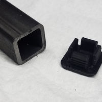 "Small Plug for 1""x1"" 11 Gauge box tube 3D Printing 178550"