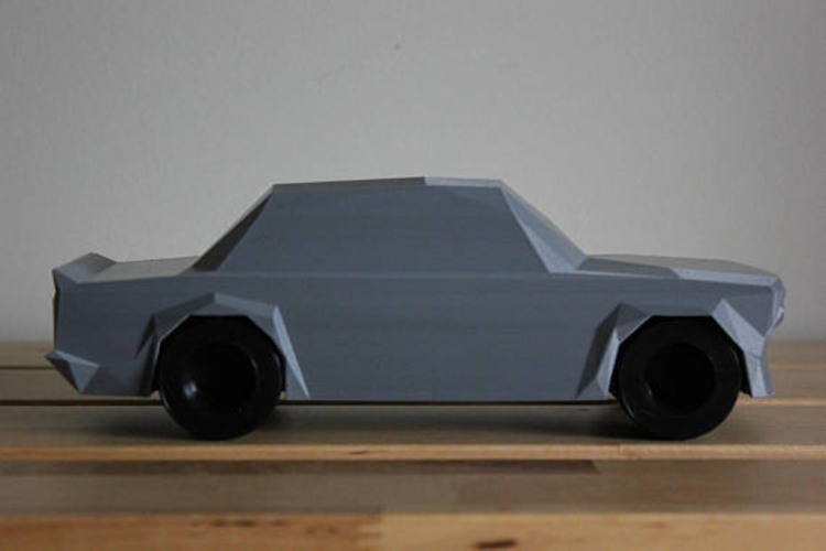 Low Poly 1973 BMW 2002 Turbo 3D Print 178591