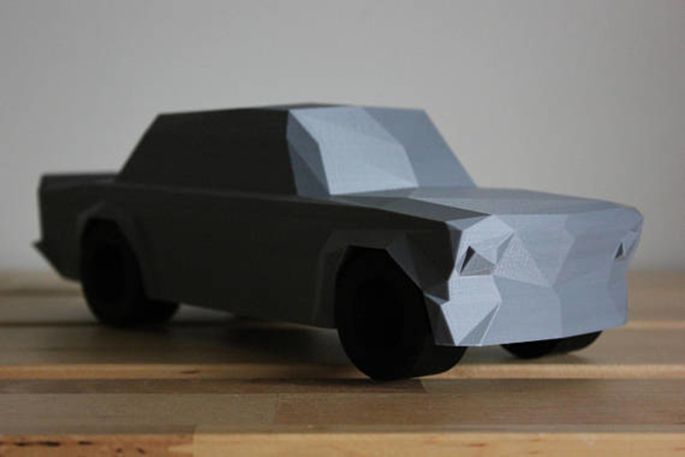 Low Poly 1973 BMW 2002 Turbo 3D Print 178592