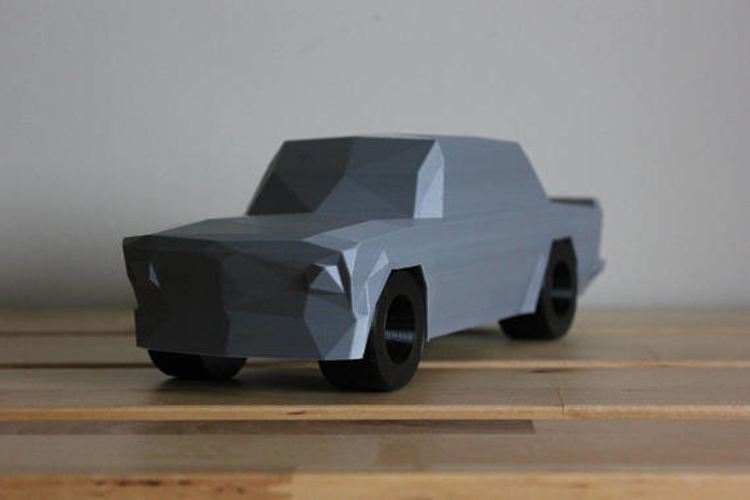Low Poly 1973 BMW 2002 Turbo 3D Print 178594