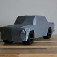 Small Low Poly 1973 BMW 2002 Turbo 3D Printing 178594