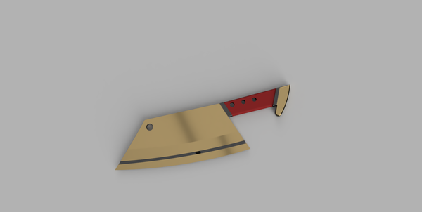 Medium CowChop Butcher Knife 3D Printing 178643