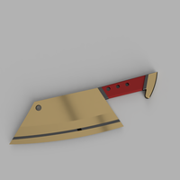 Small CowChop Butcher Knife 3D Printing 178643