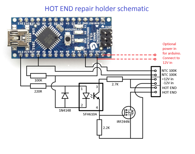 Hot End repair holder 3D Print 178718