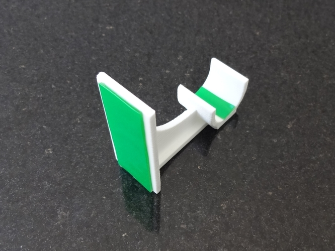 3D Printed Adhesive Curtain Rod Holder by Ds3Dprintables | Pinshape
