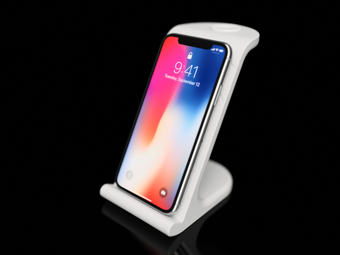 $10 IPhoneX Wireless Charging Stand 3D Print 178865