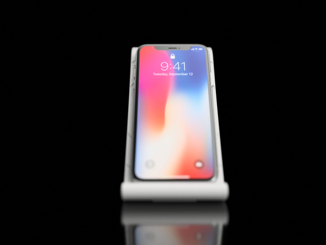 $10 IPhoneX Wireless Charging Stand 3D Print 178867
