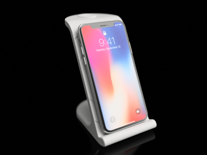 $10 IPhoneX Wireless Charging Stand 3D Print 178873