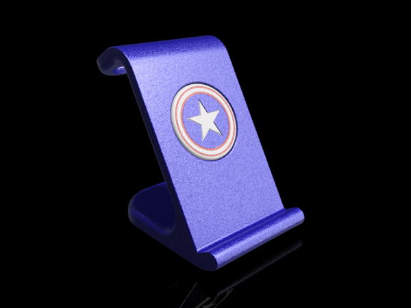 Medium $10 IPhoneX Wireless Charging Stand - Captain America 3D Printing 178877