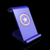 Small $10 IPhoneX Wireless Charging Stand - Captain America 3D Printing 178877