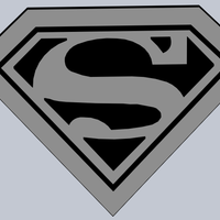 Small Superman Logo 3D Printing 179001