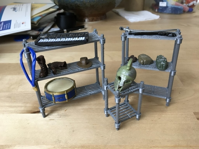 Parametric Wire Shelves (1/18 scale) 3D Print 179097