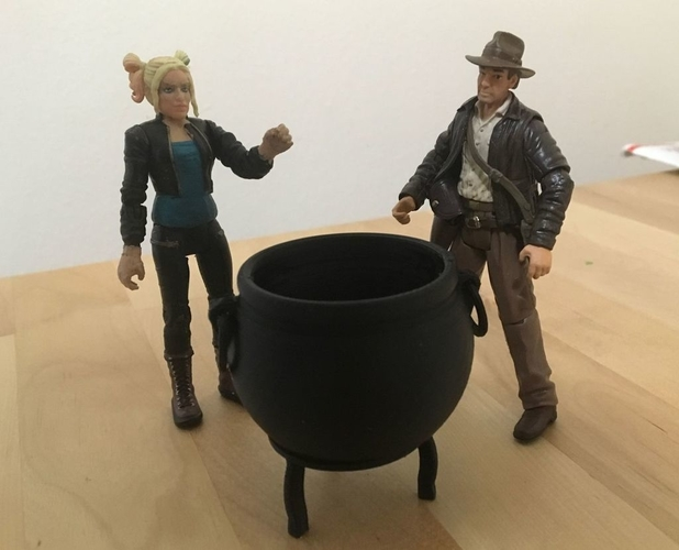 "Large Cauldron (3.75"" scale) 3D Print 179107"
