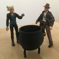 "Small Large Cauldron (3.75"" scale) 3D Printing 179107"