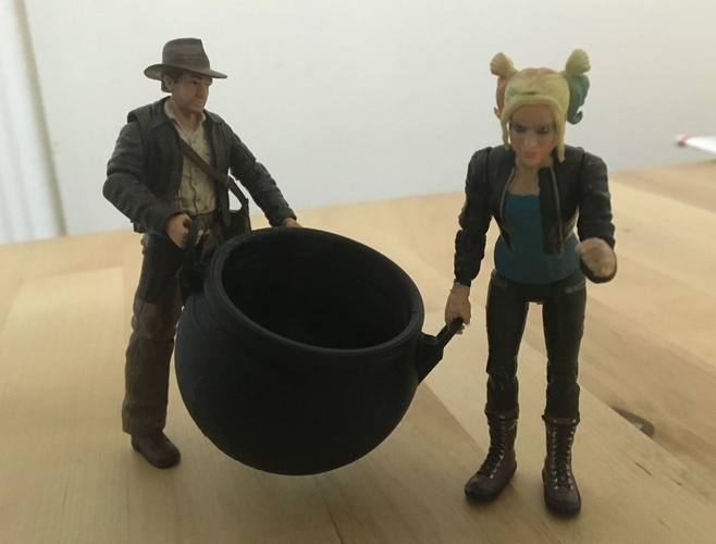 "Large Cauldron (3.75"" scale) 3D Print 179108"