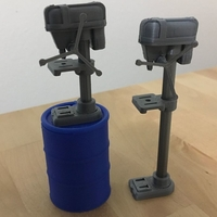 "Small Drill Presses (3.75"" scale) 3D Printing 179109"