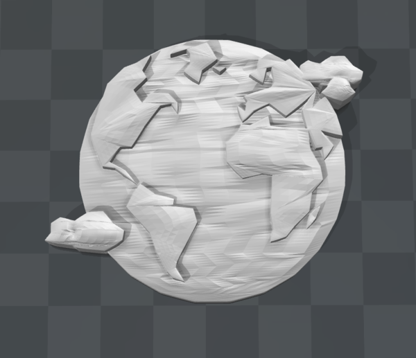 Medium Earth Brooch 3D Printing 179154