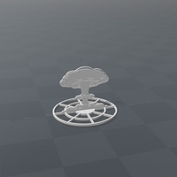 Small Battlefield - 2D Nuclear Explosion - Version B  3D Printing 179212