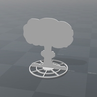 Small Battlefield - 2D Nuclear Explosion - Version A  3D Printing 179214