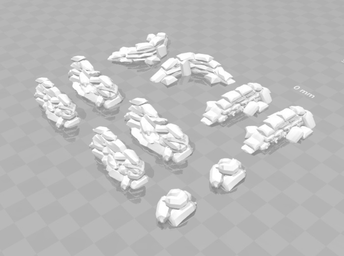 Battlefield - Assorted scatter Sandbags  3D Print 179221