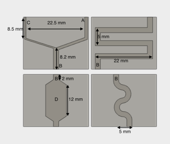 lesson of design of microfluidics channels 3D Print 179233
