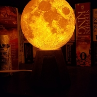 Small Moon Lamp with concrete/printed base 3D Printing 179327