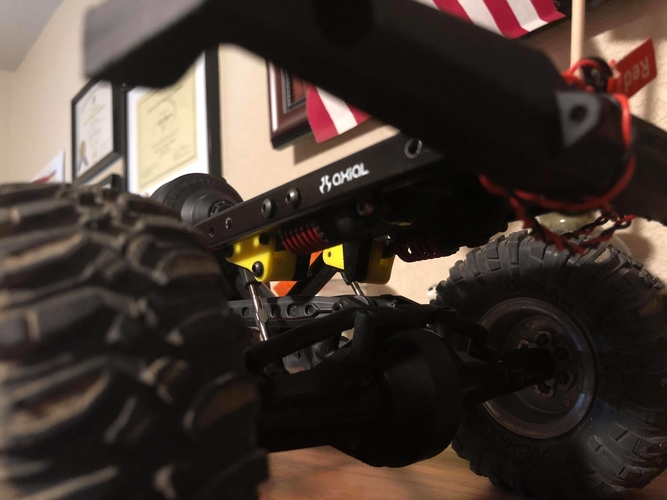 SCX-10 Cantilever Suspension (Mini E-Revo Shocks) 3D Print 179391