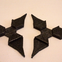Small Interlocking Throwing Stars 3D Printing 179464
