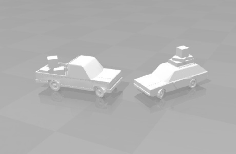 The Walking Dead - Road vehicles with luggage / loot 3D Print 179636