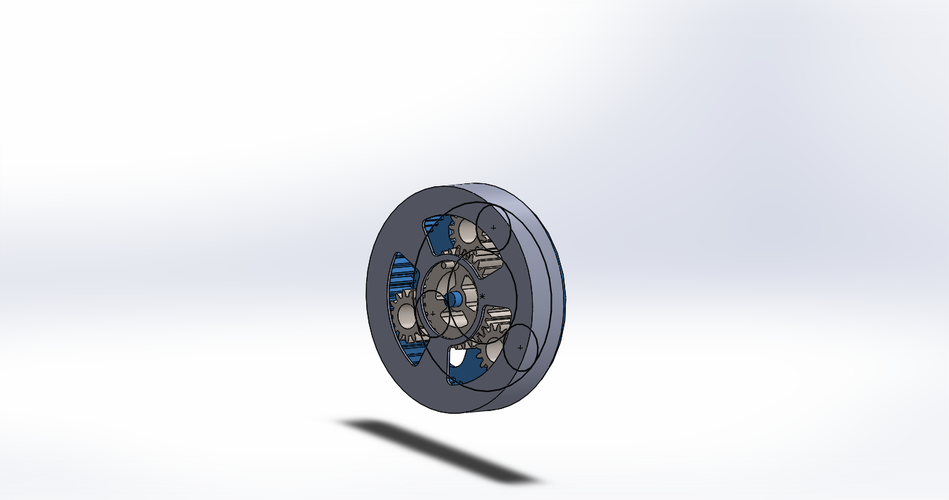 Outputless Planetary gearbox 3D Print 179643